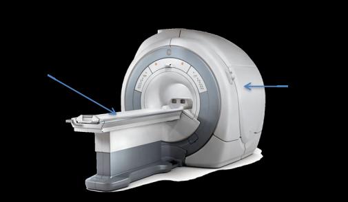 MRI Scanning Machine-patient lie flat on the scanner bed